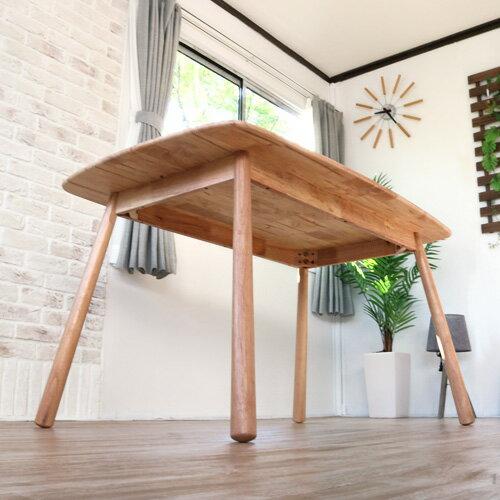 北欧風 ダイニングテーブル 135 LUPUS ルーパス | 4人用 木製 天然木 カントリー 北欧 ラバーウッド 単品 幅135 ナチュラル モダン 食卓テーブル 4人 おしゃれ シンプル