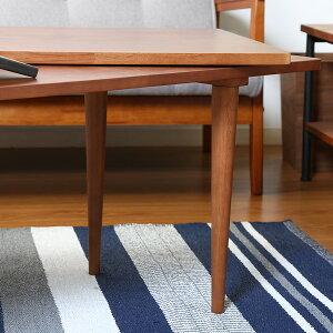 北欧風 センターテーブル C ナチュラル ブラウン 木製 天然木 伸張式 伸縮 拡張 広がる リビングテーブル デザイナーズ風 ローテーブル キッズテーブル 子供用 おしゃれ かわいい