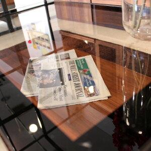 ガラステーブルエリアス|センターテーブルガラスブラックフレームアイアンディスプレイ90cm高級感モダンウォールナット北欧ローテーブルおしゃれ楽天送料無料通販