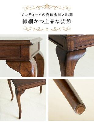サイドテーブル木製エレガント優雅コーヒーテーブルダイニングテーブル猫脚テーブル茶ブラウン/木製/薄型/通販/送料無料