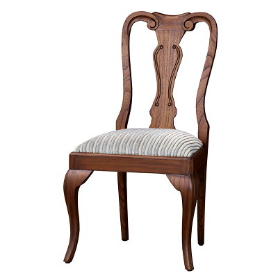 ウェールチェアーヨーロピアン風アンティーク調ロココ調ダイニングチェアー木製チェア木製椅子イス猫脚チェアネコ脚チェアーアンティーク調チェアーおしゃれクラシック優雅エレガント茶ブラウン