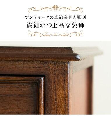 アンティーク風ウェール木製チェスト木製キャビネット猫脚キャビネット