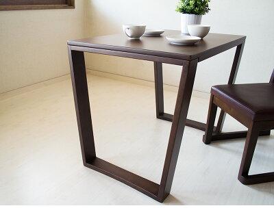楽RAKUダイニングテーブル単品床や畳を傷付けにくい台形脚洋室和室和モダン食卓天然木製机ダイニング家具送料無料新生活お年寄り高齢者老人幅85cm奥行き60cm高さ65cm