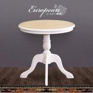 コモテーブルアンティーク風カフェテーブル木製ティーテーブル