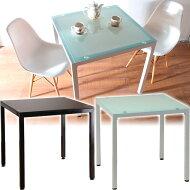 CUBEガラステーブル幅75cmダイニングテーブル【送料無料】木製北欧アウトレット薄型【smtb-k】【w1】