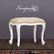 猫脚スツール上品なヨーロピアン風チェアー椅子アンティーク風猫脚チェア