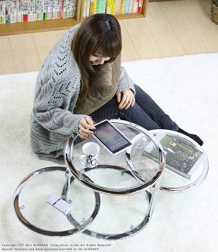 サイドテーブル 直径45 高さ34 強化ガラス スイングテーブル ラウンド 丸 ガラステーブル ソファ サイド アイアン スチール 脚 白 ブラック クローム 天板 ガラス 棚付き 丸テーブル 一人暮らし ローテーブル RI-S3
