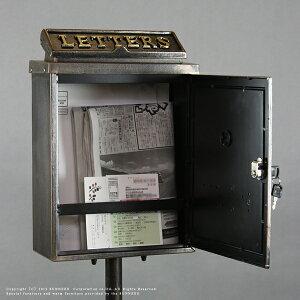 ポスト スタンド 郵便受け 鋳物スタンドポストxz 幅33 奥行 21高さ118 置き型 置き おしゃれ 鍵付き 鍵 据え置き 猫 ねこ アンティーク 鋳物 鍵付 郵便ポスト ネコ バラ 馬車 スタンドタイプ 送料無料