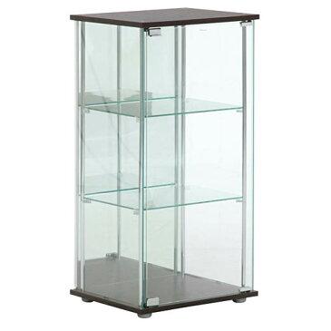 ガラスコレクションケース 3段 ディスプレイラック キャビネット 背面ミラー フィギュア ショーケース 不二貿易製 96048 新品 オフィス家具
