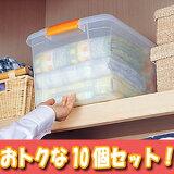 高い所ボックス[おトクな10個セット]TB-43 クリア 押入れ収納 衣類整理 【アイリスオーヤマ】【送料無料】