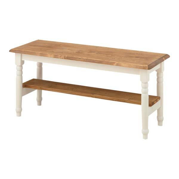 【送料無料】【TD】ベンチ CFS-212 椅子 イス いす 木製 北欧 ナチュラル 白 シンプル 腰掛 ガーデン 長椅子 ガーデンベンチ フレンチカントリー 【東谷】【取り寄せ品】 新生活