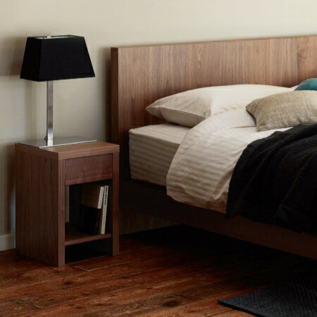 【お見積もり商品に付き、価格はお問い合わせ下さい】日本ベッドナイトテーブルVINCENT ビンセント ナイトテーブルウォルナット 61338 ダークブラウン 61339 グレー 61340サイドテーブル 寝室