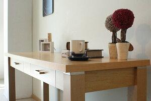 高級なメープル突板美しい木目の幅120cmデスク【送料無料】ナチュラル机パソコンデスクPCデスク