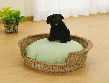 ペットが安心して休めるスペースです。 ペットベッド 籐製 ラタン