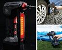 電動エアコンプレッサー 充電式 高出力 自動ストップ機能付き...