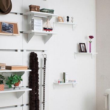 壁面棚 壁掛け飾り棚 3枚セット オフホワイト色 幅40cm 「NJ-0317」【送料無料】 収納棚 押しピンで壁に自由に設置できる壁掛け棚 雑貨 ディスプレイラック