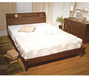 ベッドシングルフレームのみ棚付きナチュラルダークブラウン木製ベッドタモ材2口コンセント付きベッドシングルフレームすのこタモベッドシングルコンセントベッドシングルすのこシングルベッドベット[送料無料][新商品]