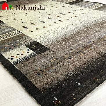 【ギャッベラグ 9731 約154×206cm】GABBEH・ギャッペ(ギャべ)・イラン製・カーペット・ラグ・絨毯(じゅうたん)・ブラウン系