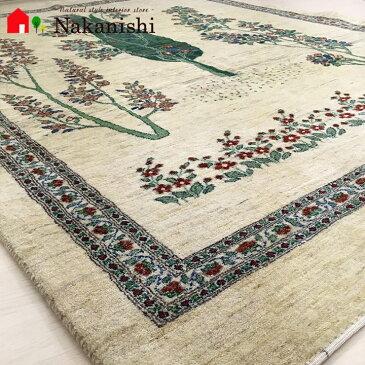 【ギャッベラグ 約3畳 約166×232cm 永遠の蛍(11048)】GABBEH・ギャッペ(ギャべ)・イラン製・カーペット・ラグ・絨毯(じゅうたん)・ナチュラル系