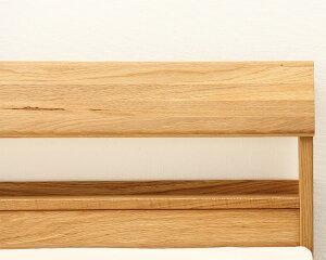 小物が置ける便利な宮付き木製すのこベッドシングルサイズフレームのみ