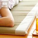お昼寝に最適な厚み30mmふっくらクッションの寝ござ・寝茣蓙(85×195cm)※別注カット不可 お昼寝布団 インテリア おしゃれ シンプル ナチュラル ゴザ 寝具 国産い草 日本製 涼しい こども 敷物 夏 いぐさ 厚い ふっくら 涼しい フローリング リビング