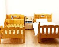 棚(宮付)と照明が付いた人と環境に優しい2段ベッド/二段ベッド(すのこベッド)