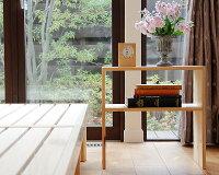 高さ別注できるひのきの木製ナイトテーブル