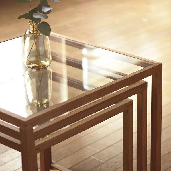 家具の里『無垢材で作った国産ネストテーブル大・中・小3点セット』