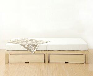 ベッド下の収納スペースにNBシリーズ収納ボックス(桐)