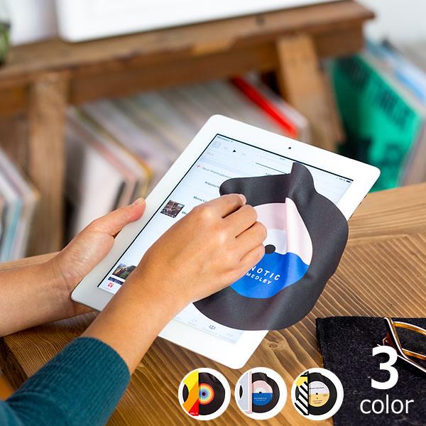 DONKEY PRODUCTS マイクロファイバークロスメガネ拭き クロス クリーニングスマートフォン スマホ 液晶 モニター カメラ 眼鏡 iPhone 携帯 ゲーム マイククロスドンキープロダクツCLEAN THAT! レコード型クリーナー モニタークロス