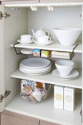 ディッシュストレージタワーワイドPVSWKPVSBK[食器お皿収納吊り下げシンク下ラック収納グッズ][台所収納キッチン収納食器棚]PVSWKPVSBK
