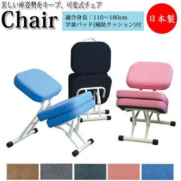 プロポーションチェアセット RS-0026 姿勢矯正家具 3WAY スツール ソファ 学習椅子 いす 大人兼子供用 本体+補助クッションセット