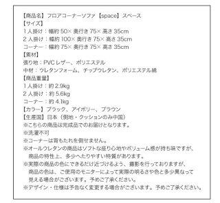 フロアコーナーソファ【space】スペースDタイプ