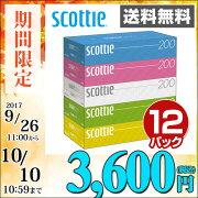 日本製紙 クレシア スコッティ ティッシュペーパー ティシュ ペーパー まとめ買い ボックス ティッシュ