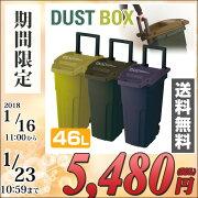 リス(RISU)ecoコンテナスタイルII(46L)ふた付きゴミ箱連結機能ハンドルキャスター排水栓簡易ロック機能付きCS2-45C2