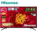 43型 4Kテレビ 4K液晶テレビ UHD HDR対応 地上