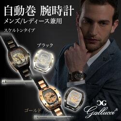 ガルーチ(GALLUCCI)自動巻腕時計メンズ/レディース兼用スケルトンタイプWT23672SK/SSP(PNP)WT23672SK/SSP(RG)
