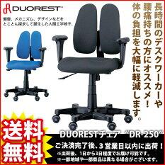 『DUORESTチェアDR-250』【幅62cm奥行き62cm高さ89〜100.4cm座面高さ42.7〜54.1cm送料無料パーソナルパソコンチェア椅子イスいすチェア高級腰痛】※メーカー直送※キャンセル不可