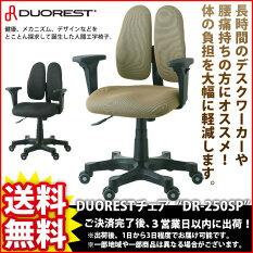『DUORESTチェアDR-250SP』【幅62cm奥行き62cm高さ89〜100.4cm座面高さ42.7〜54.1cm送料無料パーソナルパソコンチェア椅子イスいすチェア高級腰痛】※メーカー直送※キャンセル不可