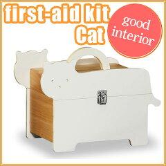 猫の形のかわいい救急箱MED-2638 T5526 救急箱 キャット(猫)【送料無料】