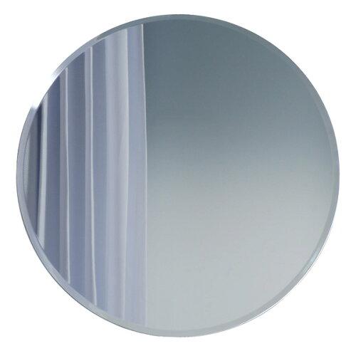 CI-1575 シンプルクリアー丸型(50×50) 面取鏡 フレームレスミラー インテリアミラー インテリ...