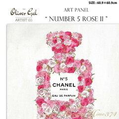 【代引き不可】アートパネル「NUMBER 5 ROSE 2」サイズ60.9×60.9cm ファッションの絵画 ブランドモチーフポップアート アートフレーム The Oliver Gal Artist Co 渡辺美奈代セレクト
