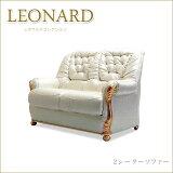 ロココ調プリンセススタイルイタリア家具 キャメルレオナルド 2Pソファー パールホワイト 二人掛けソファー 2人掛け肘掛け付きいす 椅子 イス クラシック