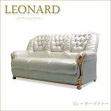 ロココ調プリンセススタイルイタリア家具 キャメルレオナルド 3Pソファー パールホワイト 三人掛けソファー 3人掛け肘掛け付きいす 椅子 イス クラシック