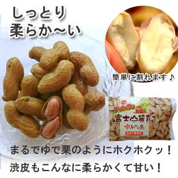 静岡県産富士山麓ですくすくと育った《ジャンボゆで落花生》甘みが強くてほっくり柔らか〈400g〉無料ギフト包装・のしP16Sep15