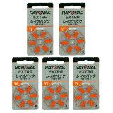 【即日出荷】レイオバック RAYOVAC 補聴器用電池 PR48(13) 6粒入り無水銀 5シートセット 補聴器空気電池/空気亜鉛電池/ボタン電池