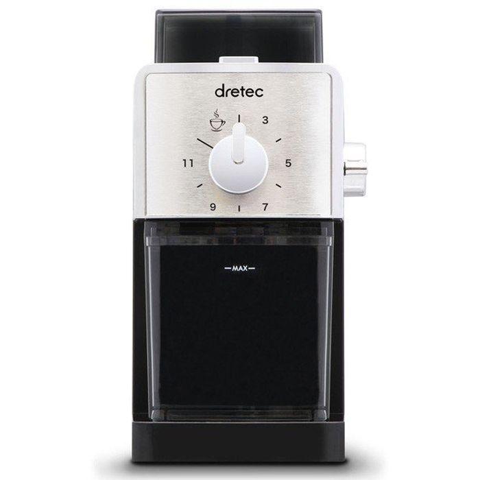 コーヒーグラインダー コーヒーミル 電動 うす式 スプレモ SUPREMO ブラック コーヒー豆 挽きたて ドリテック CG-101BK