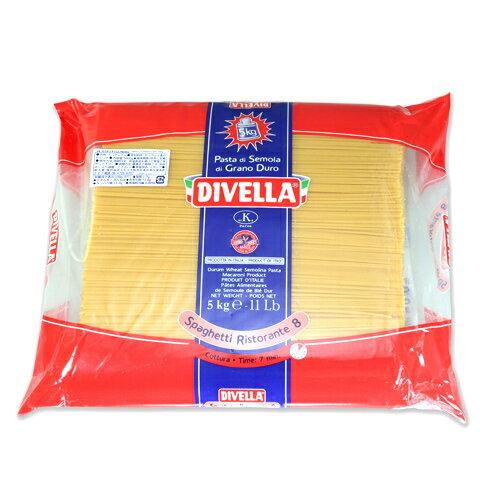 ディベラ No.8 5Kg (1.75mm) リストランテ パスタ スパゲティ DIVELLA サイズ : 5kg 入数 : 1 業務用 まとめ買い画像