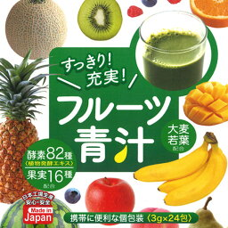 日本製 フルーツ青汁 (3g×24包)12箱セット 携帯に便利な個包装