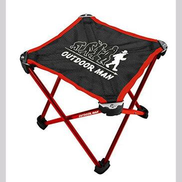 ミニアルミチェア レッド KK-00364RD キャリーバッグ付き 折りたたみ椅子